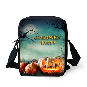 Halloween Pumpkins Printing Men's Messenger Bags Women Satchel Crossbody Bag For Children Kids Boys Girls Spanish Travel Bags