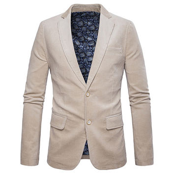 Talisima Corduroy Buttoned Business Jacket