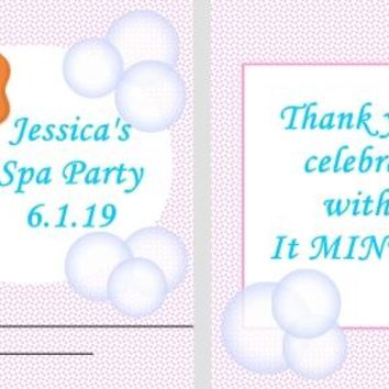 20 Spa Birthday Party Mint Favors Red Hair