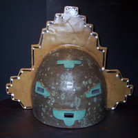 Kachina Style Mask Wall Light