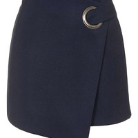 Eyelet Wrap Mini Skirt - Skirts - Clothing