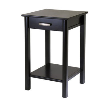 Liso End Table / Printer Table with Drawer & Shelf