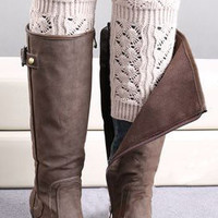 Cupshe Flower Crochet Knitting Boot Cuffs