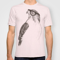 Hawk with Poor Eyesight T-shirt by Phil Jones | Society6