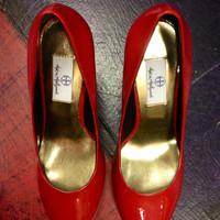 Red Patent Pump Hot in Hollywood 8 by Julie Jones