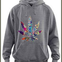 marijuana  custom crewneck hoodie for unisex