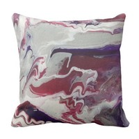 Pink & Purple Abstract Art Pillow
