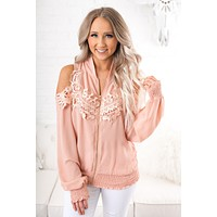 Andres Cold Shoulder Top (Blush)