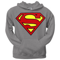 Superman - Shield Logo Heather Pullover Hoodie = 1946240516