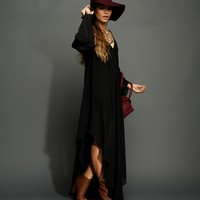 Sale-black Boho Maxi Dress