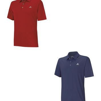 ADIDAS CLIMACOOL DEBOSSED 3-STRIPES POLO GOLF SHIRT -NEW 2015- PICK SIZE & COLOR