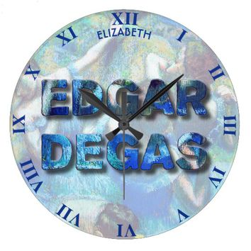 Edgar Degas French Impressionist Blue Dancers Large Clock