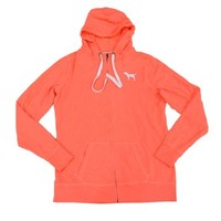 Victoria's Secret PINK Hoodie with Dog Logo and Love Pink Graphics
