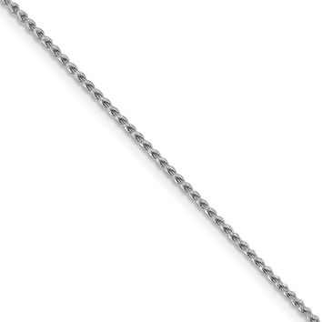 1.4mm 14k White Gold Diamond Cut Open Franco Chain Necklace