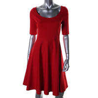 Kate Spade Womens A-Line Elbow Sleeves Wear to Work Dress