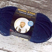 Lion Brand Wool Ease Yarn Lambs Wool Super Bulky Worsted 3 oz Navy Blue