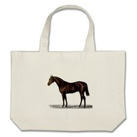 Brown Horse Large Tote Bag