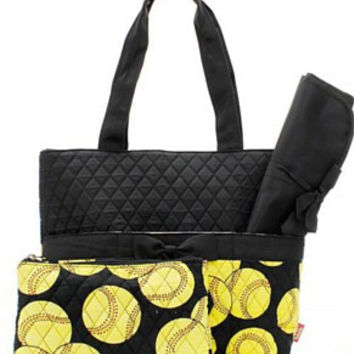 Softball Diaper Bag