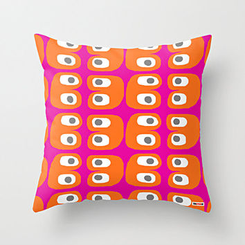 Pink and Orange Decorative throw pillow cover - Colorful pillow cover - Modern pillow cover