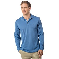 Long Sleeve Roster Performance Polo in Dutch Blue by Southern Tide
