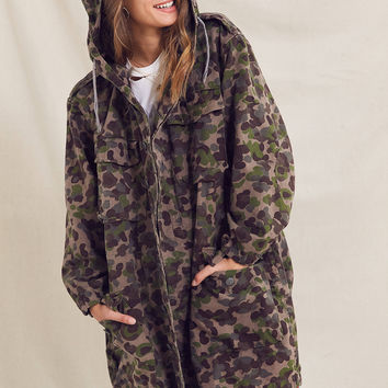 Vintage Longline Camo Jacket | Urban Outfitters