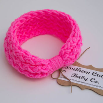 Baby Headband Knot, Headband For Baby Girl, Knit Baby Turban, Baby Girl Headband Knot, Headbands For Girls, Girls Crochet Headbands