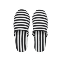 Zipper Slippers in Stripe