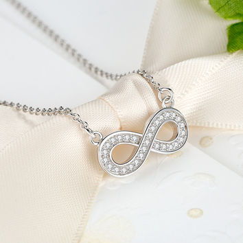 Silver Sterling Infiny Pendant Necklace
