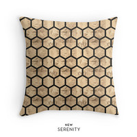 Rose Gold Pillow Cover, HoneyComb Pillow, Hexagon Pillow,Decorative Pillow,Cushion Cover, Faux Rose Gold Foil, Home Decor,NewSerenityStudio
