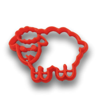Cute Sheep Cookie Cutter - Animal Cookie Cutter