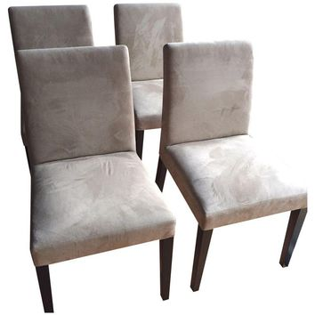 Pre-owned Z Gallerie Microfiber Chairs - Set of 4