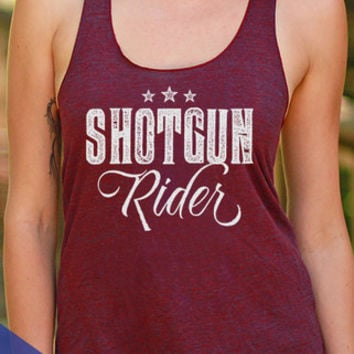 PRESALE! Shotgun Rider | Racerback Tank Top  | Women's Country Lifestyle Apparel