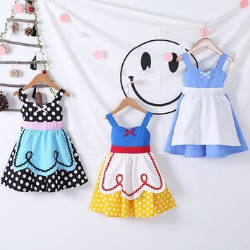 Snow White Dress Alice in Wonderland Dot Halloween Princess Cosplay  Baby Girls Toddler Kids Costumes