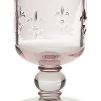 "Rosalie Glass Footed Floral Vase in Light Pink - 5.5"" Tall"