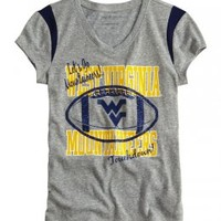 West Virginia Mountaineers V-neck Tee | Girls West Virginia College Fan Shop | Shop Justice