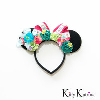 Enchanted Tiki Room Disney Ears Headband, Mouse Ears, Minnie Mouse Ears, Mickey Mouse Ears, Disney Bound, Disneyland, Disney World