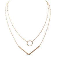 Mad Love Layered Necklace In Gold