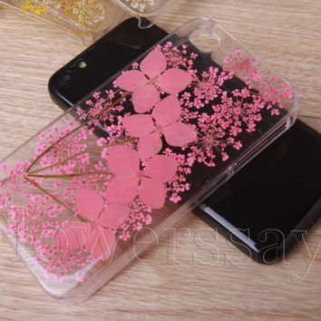 iPhone 6 case iPhone 6 plus Pressed Flower, iPhone 5/5s case, iPhone 4/4s case, 5c case Galaxy S4 S5 Note 2 note 3 Real Flower case NO:F520