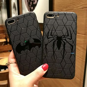 Marvel Avengers Silicone Cover Case for iPhone 6s 7 8 Plus XS MAX 10 ipone ifone Coque Soft Rubber Superman Batman Ironman funda