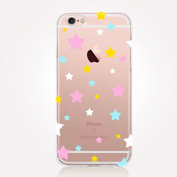 Transparent Stars iPhone Case - Transparent Case - Clear Case - Transparent iPhone 6 - Transparent iPhone 5 - Transparent iPhone 4