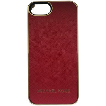 Michael Kors True Red Leather iPhone 5/5s Snap On Case