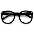 Trendy Womens Round Fashion Clear Lens Glasses 9341