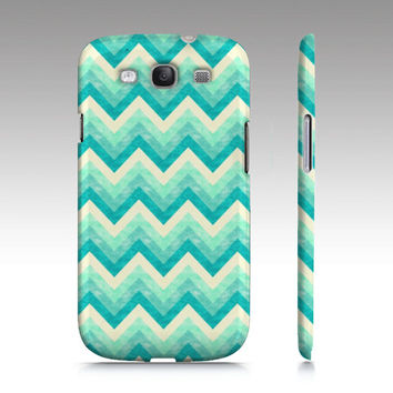 Chevron Samsung Galaxy S3 case, Galaxy S4 case, colorful chevron, zigzag, trendy, mint aqua, blue, mint, turquoise art for your phone