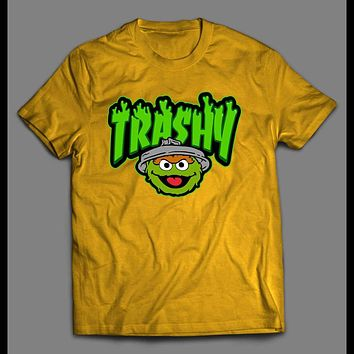 "THE GROUCH ""TRASHY"" CARTOON ART SHIRT"