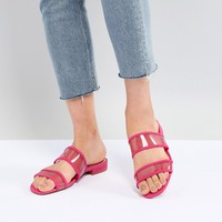 Bershka mesh strap flat sandals at asos.com