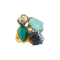 Alexis Bittar Gilded Muse d'Ore Multi-Stone Spike Ring