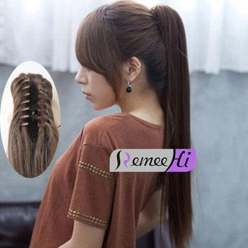 Fashion Claw Jaw Clip Ponytail Human Hair piece 100% Human Remy Hair Extension