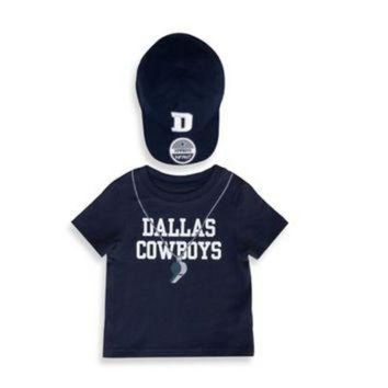 ESBYD9 NFL 2-Piece Dallas Cowboys Short-Sleeved Jersey Tee with Hat