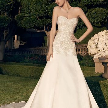 Casablanca Bridal 2166 Strapless Beaded A-Line Wedding Dress