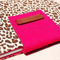 Beautiful brown leopard case for 13inch MacBook Air or 13''  Pro ,Valentine's Day gift for her.Hot pink flap laptop sleeve,13'' laptop bag